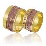 Alianças De Noivado e Casamento Em Ouro Amarelo 18k 0,750 Fa-854-r