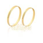 Alianças Lindas De Noivado e Casamento Em Ouro 18k