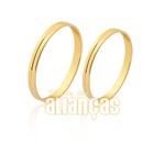 Lindas Alianças De Noivado e Casamento Em Ouro 18k