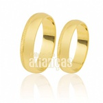 Alianças de Ouro 18k Tradicionais com Friso Diamantado