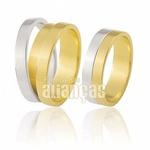 Alianças De Noivado e Casamento Em Ouro 18k Fa-429