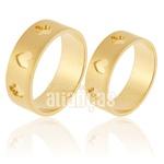 Alianças De Noivado e Casamento Em Ouro Amarelo 18k 0,750 Fa-906