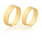 Alianças Delicadas De Noivado e Casamento Em Ouro Amarelo 18k