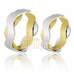 Alianças De Noivado e Casamento Em Ouro Amarelo 18k 0,750 Fa-693
