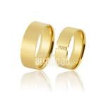 Alianças De Noivado e Casamento Em Ouro Amarelo 18k 0,750 Fa-890