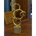 Escultura Dourada Ring