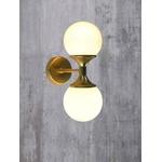 Arandela Luminária de Parede Jabuticaba-Alamin LE14/2P-Dourado