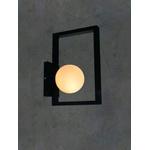 Arandela Luminária de Parede Geométrica Jabuticaba-Alamin LE17/1P-Preto