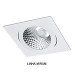 Spot Embutir PAR30 Quadrado Orientável Alumínio Injetado Face Plana Alamin - AL2018/1Q (Linha Mirum)