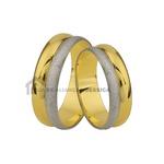 Aliança Para Casamento Em Ouro 18 k 2 Cores