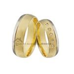 Linda Aliança Em Ouro 18k Com Diamantes