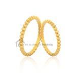 Alianças De Bolinha Em Ouro Amarelo 18k