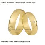 Alianças De Ouro Tradicional Com Diamante Grátis