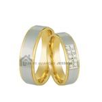 Alianças De Bodas De Ouro 18k Com Diamantes