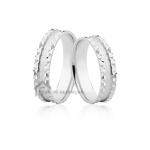 Aliança de Prata para Namoro Diamantada