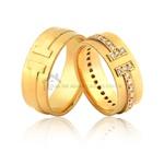 Alianças De Ouro e Pedras