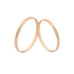 Alianças De Noivado e Casamento Em Ouro Rosé 18k