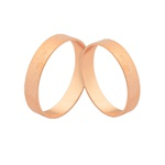 Alianças De Ouro Rosé De Casamento