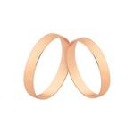 Alianças Finas De Noivado e Casamento Em Ouro Rosé 18k
