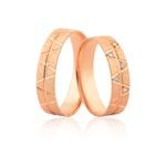 Alianças Delicadas Em Ouro Rosé 18k