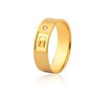 Aliança De Ouro Amarelo 18k (6mm) Com Brilhante