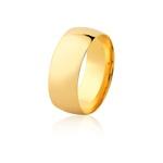Aliança De Ouro Amarelo 18k (8mm)