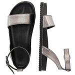 Sandália rasteira prata velho - Olinda