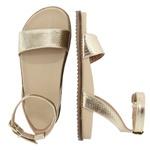 Sandália rasteira ouro light - Olinda
