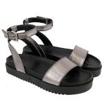 Sandália sola alta prata velho - Olinda