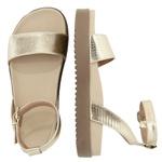 Sandália sola alta ouro light - Olinda