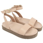 Sandália sola alta rosada - Olinda