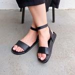 Sandália rasteira preta - Olinda