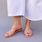 Sandália rasteira nude - Natal