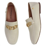 Loafer marfim metal - Curitiba