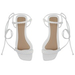 Sandália rasteira de amarrar branca - Noronha