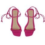 Sandália rasteira de amarrar pink - Noronha