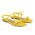 Sandália rasteira amarela - Noronha
