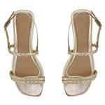 Sandália rasteira dourada - Noronha