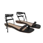 Sandália rasteira de amarrar preta - Noronha