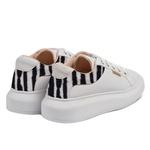 Tênis sola alta branco e zebra - Joinville