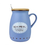Caneca C/ Colher 400ml Tampa Mad. - Water