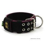 Coleira Para Cachorro Amorosso (preto e rosa)