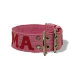 Coleira Para Cachorro Personalizada (Rosa e Pink)