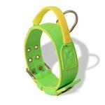 Coleira Para Cachorro Poderosso (Verde Flúor e Amarelo)