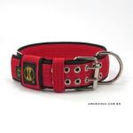Coleira Para Cachorro Amorosso Slim (vermelho e preto)