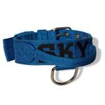 Coleira Para Cachorro Personalizada (Azul e Preto)