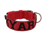 Coleira Para Cachorro Amorosso Personalizada (vermelho e preto)