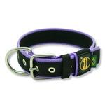 Coleira Para Cachorro Fit Lite (preto e lilás)