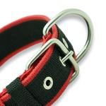 Coleira Para Cachorro Fit Lite (preto e vermelho)