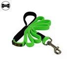 Coleira Para Cachorro Personalizada + Guia Longa 1,80m (Total Black e Verde Limão)